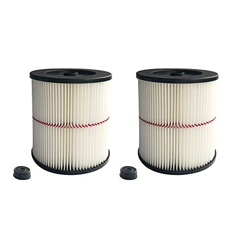 2 Pack 9-17816 Air Cartridge Filter fit Craftsman Wet/Dry Shop Vac Replacement Part fit 5 Gallon & Larger Vacuum Cleaner
