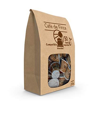 SABOREATE Y CAFE THE FLAVOUR SHOP- Cápsulas Compostables - Biodegradables Café De Finca Compatibles Espresso 50 unidades
