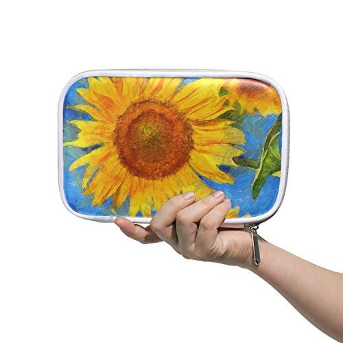 Girly Make Up Bags Tournesols Vincent Van Gogh Style Digital Makeup Travel Bag Grand Cosmetic Bag For Girls Multifunctional Bag Cosmetics For Men Women