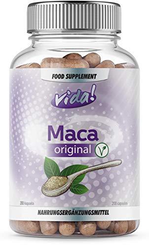 Maca Root Capsules for Women and Men – 10,000mg Max Strength - Maca Root Powder from Extract – 200 Vegetarian Maca Capsules