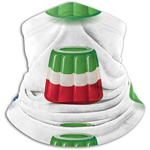 Tubo de cuello de microfibra para calentador de orejas, cubierta para la cara Surtido colorido de gelatina para pudin de gelatina.