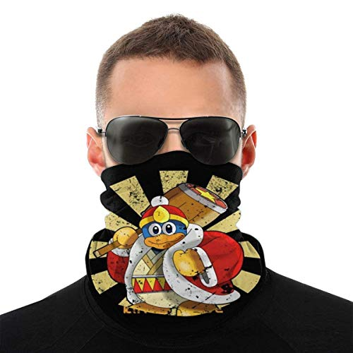 OMarcus König Dedede Retro japanische Kirby Variety Kopfbedeckung Hals Gamasche Gesicht Bandana Schal mit 6 Filtern