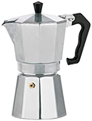 Kela 10590 Espresso, Pour 3 tasses, Aluminium, Italia