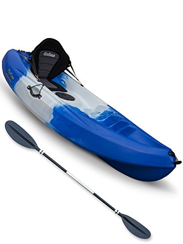 Pioneer Single Sit On Top Kayak Ultimate Bundle Blue/White/Blue