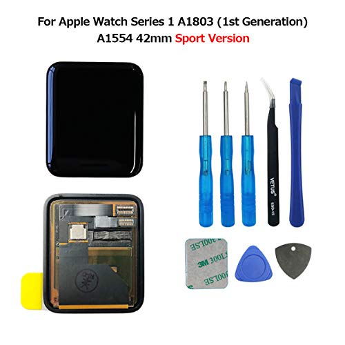 swark LCD Pantalla para Apple Watch Series 1 a1803 and (1st Generation) a1554 Screen 42 mm LCD Screen and digitalizador Assembly + Tools