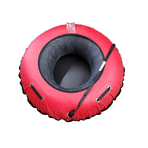 Super Sled Winter Snow Sledding Tube and Cover (Red)