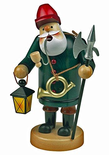 yanka-style 'Brucia incenso bastoncini di uomo Bastoncini di figura fumo statuetta guardiano di notte di circa 14cm di altezza, in legno, regalo di natale Avvento (30102–14)