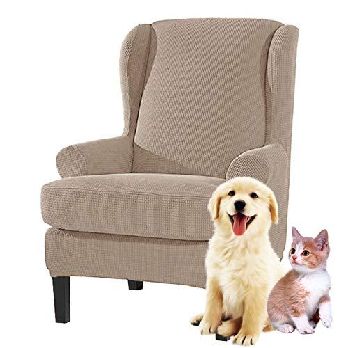 Stootrel Ohrensessel Sofa überzug Sesselbezug Sesselschoner Sessel-Überwürfe 1Sitzer Waschbar Elastisch Stretch Sesselhusse Bezug (Farbe : Color18)