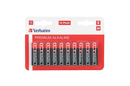 Verbatim Alkalibatterien 1.5V - AA-LR6 Mignon Batterie, Stückzahl: 10