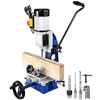 VEVOR Woodworking Mortise Machine 1/2 HP 1700RPM Powermatic Mortiser With Movable Work Bench Benchtop Mortising Machine For Making Round Holes Square Holes Or Special Square Holes In Wood