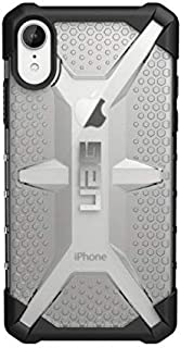 Urban Armor Gear Plasma Back Cover Case Ice Compatible for Apple iPhone XR, Black/Clear