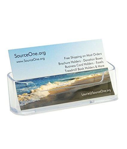 SOURCEONE.ORG Premium Acrylic Business Card Holder