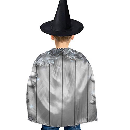 Amoyuan Unisex Kids Kerst Halloween Heks Mantel Met Hoed Kerst Ijs Sneeuw Houten Wizard Cape Fancy Jurk