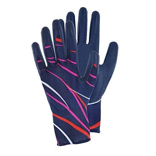 Magid DAZ410T HandMaster Dazzle Women's Nitrile Garden Glove, Medium (6 Pair)