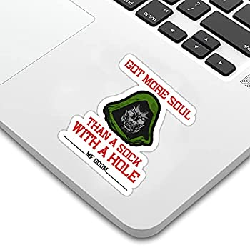 MF Doom Quotes Dr Doom Slayer Gift Fans Sticker Decal Doom Eternal for Laptop CarsVinyl Decal Wall Bedroom