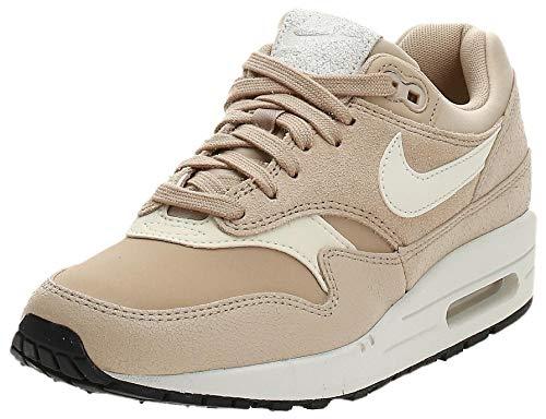 Nike AIR MAX 1 Premium W Sneaker Femmes Beige - 39 - Sneaker Low