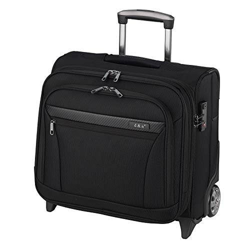 D & N Business & Travel 2-Rollen Businesstrolley 41 cm Laptopfach, Schwarz, 43 cm
