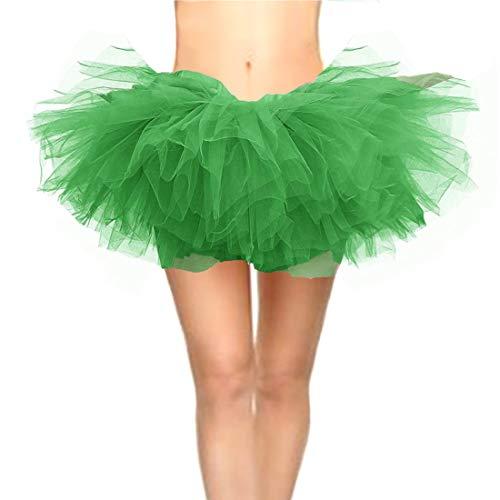 CahcyElilk Women's St Patricks Day Halloween Run Runing Christmas Tutu Green Small
