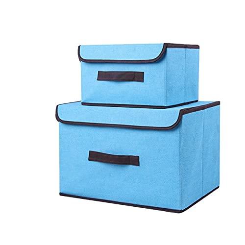WSKL Caja de Almacenamiento de Ropa de Tela Oxford Plegable, Caja de Almacenamiento de Ropa Interior, Armario de Acabado de lavandería para el hogar, Armario de Almacenamiento de Juguetes