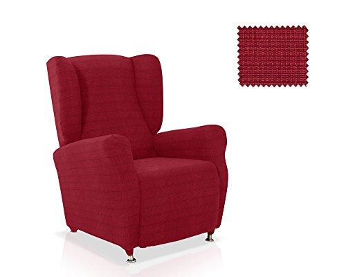 JM Textil Husse für Ohrensessel Moraig Größe 1 Sitzer (Standard), Farbe Rot (Mehrere Farben verfügbar)