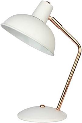 Kenay Home Retro Lámpara de Sobremesa, Blanco: Amazon.es: Iluminación