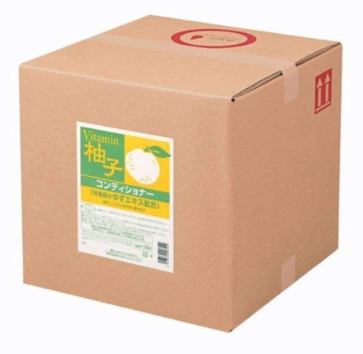 来て石炭放射能業務用 SCRITT(スクリット) 柚子 コンディショナー 18L 熊野油脂 (コック無し)