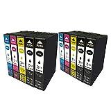 Hyggetech 10 cartuchos de tinta de repuesto para Epson 16XL 16 Multipack compatibles con Epson Workforce WF-2010 WF-2510 WF-2520 WF-2530 WF-2540 WF-2630 WF-2650 WF-2660 WF-2750 WF-2760