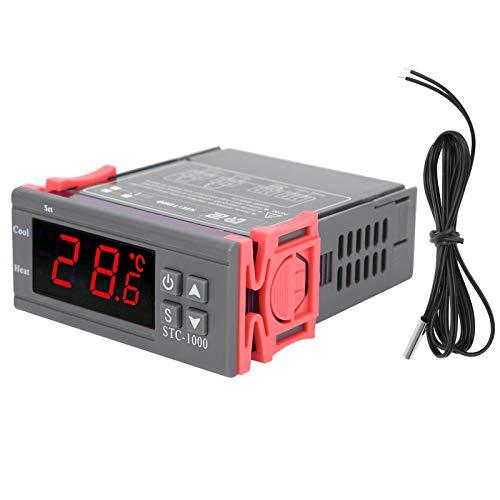 Jeanoko regulador de temperatura digital duradero del regulador de temperatura del ABS antiinterferente con una pantalla LCD grande para los refrigeradores