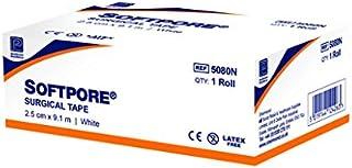 Premier 5080N Softpore Tapes, 2.5 Cm X 9.14 M, White