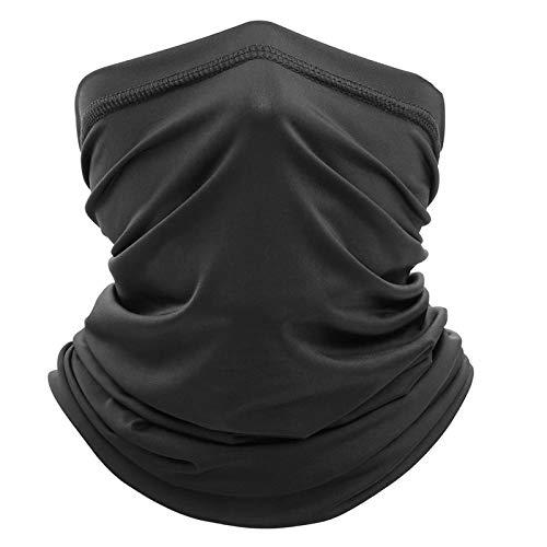 CXG Braga Cuello Moto Neutral, Braga Cuello de Deporte Calentador Pasamontañas Polar Multifuncional Máscara de Esquí Gorro Invierno Hombre Ciclismo Correr Aire Libre (Negro) ✅