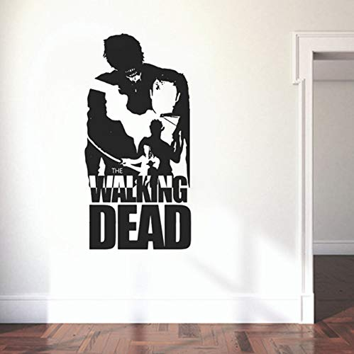xingzhi Walking Dead Wandtattoo Wandaufkleber Aufkleber wasserdichte Tapete Wandbild Cool Boy Dedroom Wohnkultur Wandtattoos 90 * 44 cm