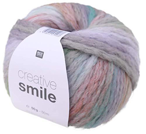 Rico creative Smile Fb. 01, spessore lana 8 mm, lana a maglia rapida con sfumature di colore.