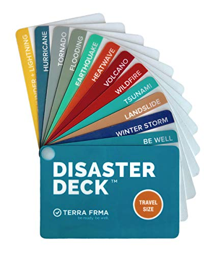DISASTER DECK - Pocket Size Emergency Survival Cards - Survival Guide & Emergency Preparedness with Instructions for Disasters