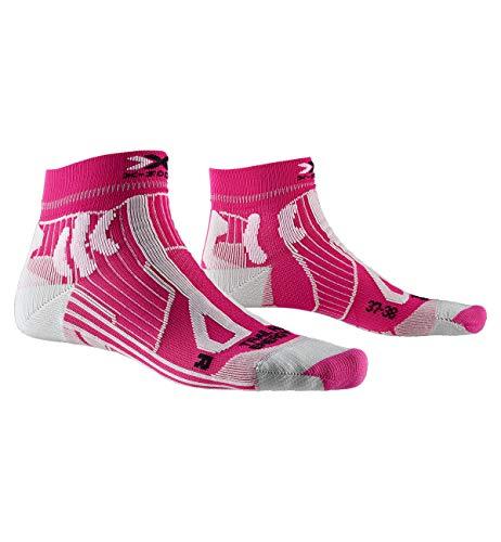 X-Socks Trail Run Energy, Calzini da Corsa Donna, Flamingo Pink/Pearl Grey, 37-38
