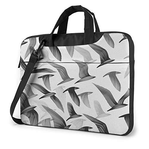 XCNGG Bolso de hombro Computer Bag Laptop Bag, Colorful Smoke Business Briefcase Protective Bag Cover for Ultrabook, MacBook, Asus, Samsung, Sony, Notebook 14 inch