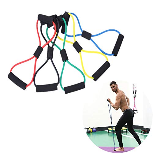 ZYZ 5 Pcs Training Resistance Rope, Exercise Band, no Fear of Tearing or snapping for Home Gym Workout, Yoga, Pilates, Pull Up Strength Training