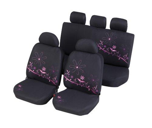 Unitec Auto Sitzbezug Set 11tlg. Sitzbezüge Schonbezüge Lady Style Flower