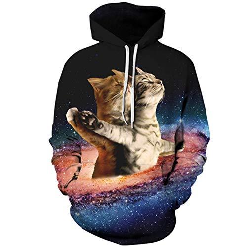 3D Space Marine Cat Pullover Langarm Hoodies Mädchen Tops Dünner Hoodie Picture Color5 XXXL-Asian Size