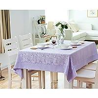 テーブルクロスプレースマットラウンド防止厚い防滴カバーテーブルダイニングテーブル/キッチン/家庭/装飾 (Color : Purple, Size : 140*140CM)