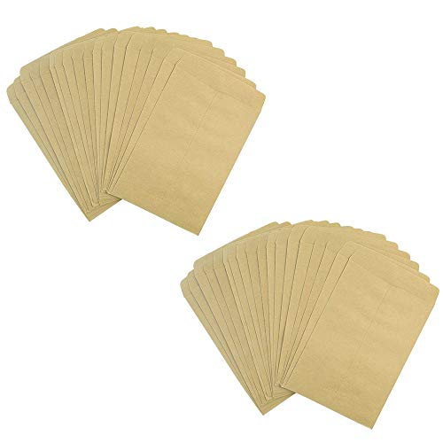 100 Packs Seed Envelopes, Bantoye 5' x 3.5' Blank Proterra Seed Paper Bags for Home and Garden Use, Great for Party Favors, Saving Seeds, Storing Keys & Other Small Objects