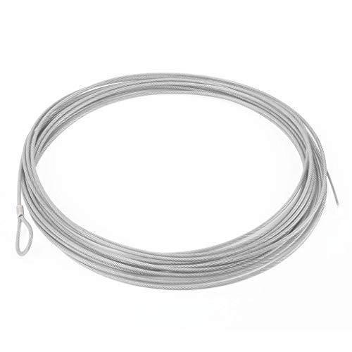 Redes Deportivas On Line Cable para Tensar la Red de Padel de Acero Trenzado, Galvanizado y Plastificado - para Red de Padel de 11 M