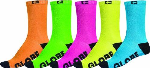 Globe Herren Fluro 5 PK Crew Sock, Assorted, 7-11