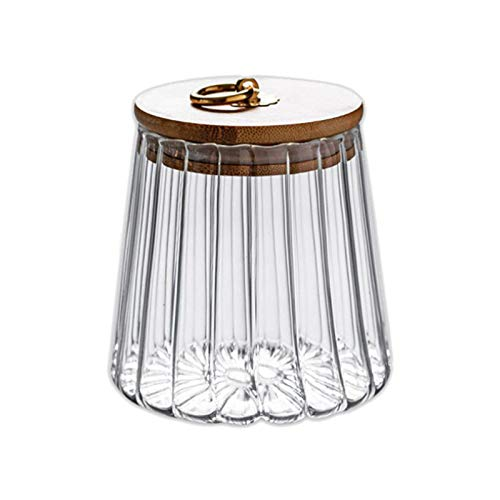 Jaimenalin Sealed Transparent Glass Seasoning Pot with Lid,Tea Storage Jar,Salt Pepper Storage Box Sugar Bowl Kitchen Accessories,B
