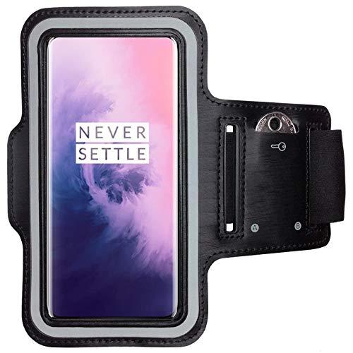 CoverKingz armtas voor OnePlus 7 Pro sportarmband met sleutelvak, looparmband fitness, mobiele telefoon armband zwart