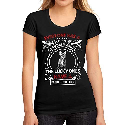 Mujer Camiseta Gráfico tee Shirt Dog French Bulldog Negro Profundo