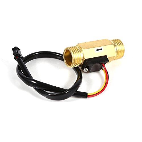 Interruptor de flujo de agua - 1Pc Nuevo G1/2'Cobre Efecto Hall Sensor de flujo de agua líquida Interruptor Medidor de caudal 1-30L/min Alta calidad