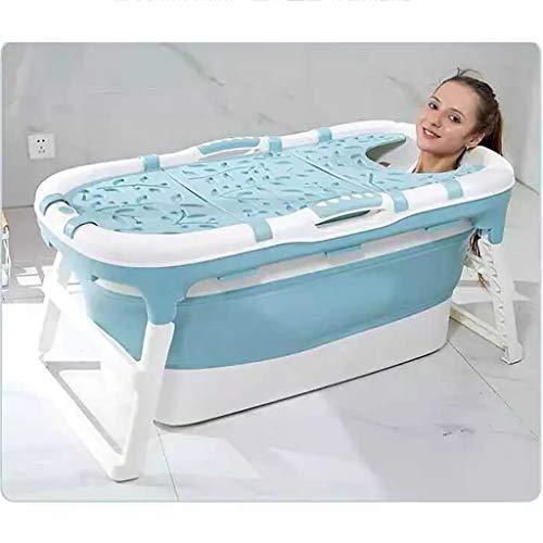 Tub Blaue, Faltbare, große Badewanne mit abnehmbarem Bezug, tragbare Kinderbadewanne, Dickes Kunststoffbadewanne für Kleinkinder, großer Kinderpool