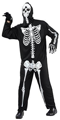 P'tit Clown - 86876 - Costume Adulte Combinaison Squelette - Taille Unique