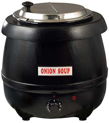 Winco Electric Soup Warmer, 10.5-Quart,Black