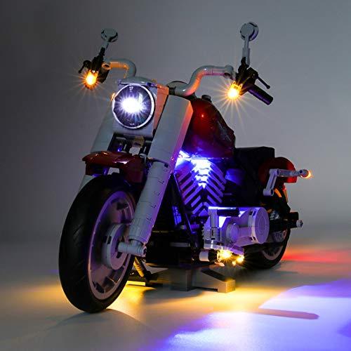 Matuke LED Licht Set, DIY Leuchtende Bausteine Beleuchtung Kit Kompatibel mit Lego Harley Motorcycle 10269, USB-betrieben - Modell Nicht Enthalten